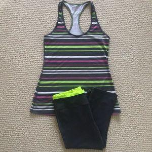 VS Crop leggings and Xersion Racerback Top